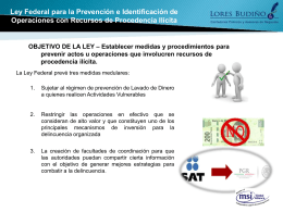 Ley Federal para la Prevención e Identificación de Operaciones con