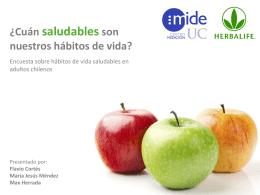 Estudio Hábitos del Vida Saludable 2013