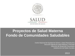 PPT - Dirección General de Promoción de la Salud