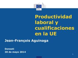 Productividad laboral en la UE