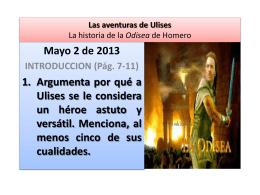 Las aventuras de Ulises - Colegio cafam santa lucia