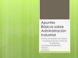 Conceptos Básicos sobre Administración Industrial