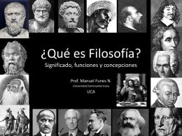 Filosofía.conceptualizaciones
