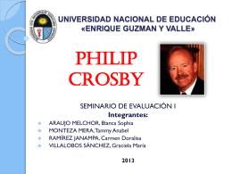 PHILIP CROSBY - Promoción 2013