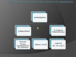 dependencias judiciales del distrito de chimborazo