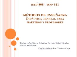 MÉTODOS DE ENSEÑANZA Didáctica general para maestros y