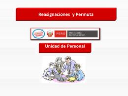 Presentación Reasignacion profesores ley N° 29944