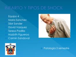 INFARTO Y TIPOS DE SHOCK