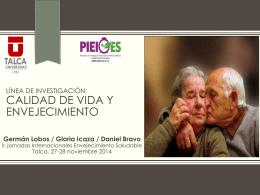 Calidad de Vida y Envejecimiento, Prof. Germán Lobos - PIEI-ES