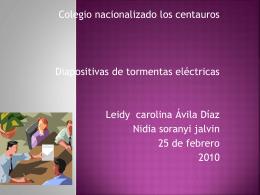 Tormentas Electricas - ParqueSoft