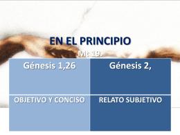 EN EL PRINCIPIO Mt 19.