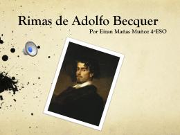 Rimas de Adolfo Becquer