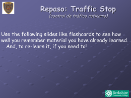 Unit 8 slides with Traffic Stop Review