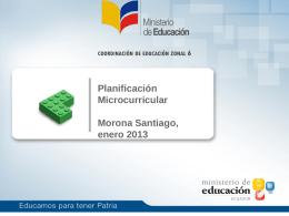 taller microplanificación curricular.