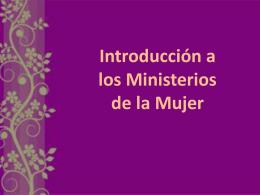 Introducción a los Ministerios de la Mujer