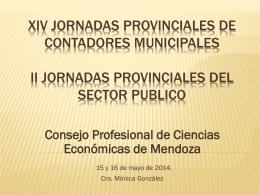 jornadas cont. municip - Consejo Profesional de Ciencias