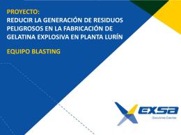 proceso de fabricación De Gelatina Explosiva