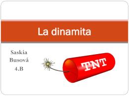 La dinamita - Saskia Bursová (presentación nueva)