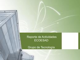Presentación de informe de avances