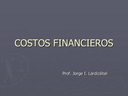 Costos financieros