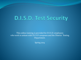 What Is Test Security? - Donna Independent School District