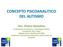 Concepto psicoanalitico del autismo