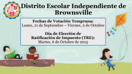 Escuelas Secundarias - Brownsville Independent School District