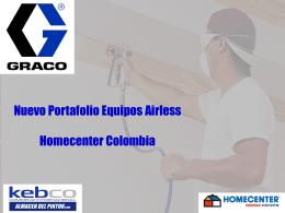 Nuevo Portafolio Equipos Airless Homecenter