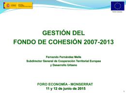 GESTIÓN DEL FONDO DE COHESIÓN 2007