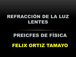 REFRACCIÓN DE LA LUZ LENTES