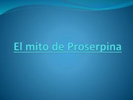 El mito de Proserpina.Lucía Azuaga