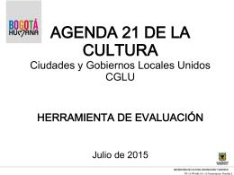 HERRAMIENTA DE EVALUACIÓN DE AGENDA 21 Julio 17 de 2015