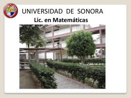 Licenciatura en Matemáticas