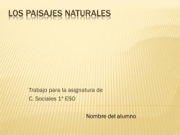 Los Paisajes Naturales