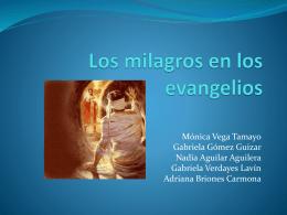 Los milagros en los evangelios