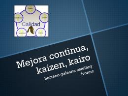 Mejora continua, kaizen, kairo