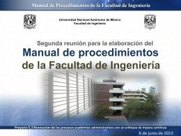 Presentación de la segunda sesión - Facultad de Ingeniería
