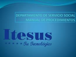 departamento de servicio social manual de procedimientos