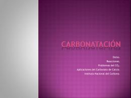 Carbonatación - Andrea González