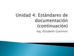 Clase07 Unidad 4 Estandares de documentación continuación