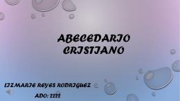 Abecedario Cristiano ado 2222