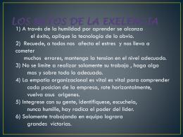 LOS RETOS DE LA EXELENCIA.