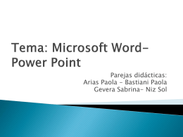 Tema microsoft power point y word