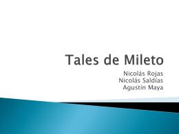 Tales de Mileto - Lenguaje y Comunicación