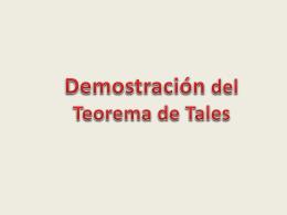 Demostración del Teorema de Tales.