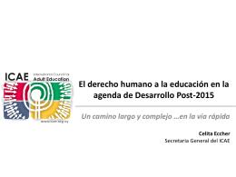 El derecho humano a la educación en la agenda de