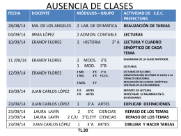 AUSENCIA DE CLASES - ESC. SEC. TÉC. N° 30