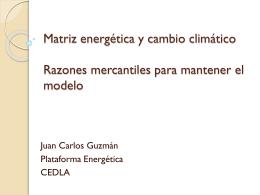 Matriz energética y CC - Extrayendo Transparencia