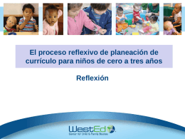 Reflexión - The Program for Infant/Toddler Care