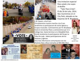 desfile - Informativo TX